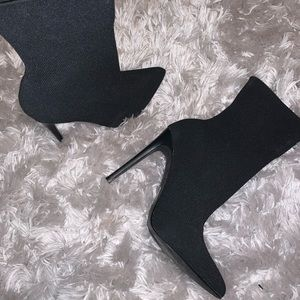 Steve Madden sock heel boots